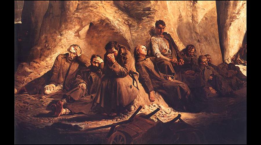 Niedziela w kopalni – Jacek Malczewski